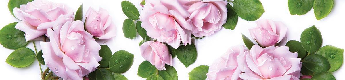 018 Розы. Фартук для кухни пластиковый. 3 метра