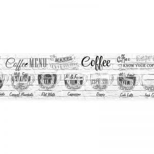 AG 133 Кофейные напитки. Фартук для кухни МДФ. 2440х610. Толщина 4 мм