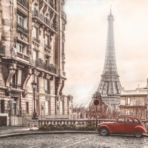 AG 136 Романтика в Париже. Фартук для кухни МДФ. 2440х610. Толщина 4 мм