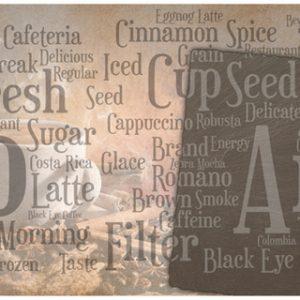 AG 96 Розы и кофе. Фартук для кухни МДФ. 2440х610. Толщина 4 мм