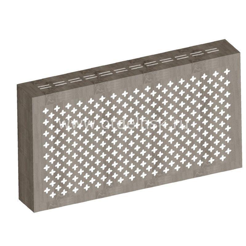 Готико Дуб Винтаж. Экран с коробом для радиаторов 1200х600×170 мм.