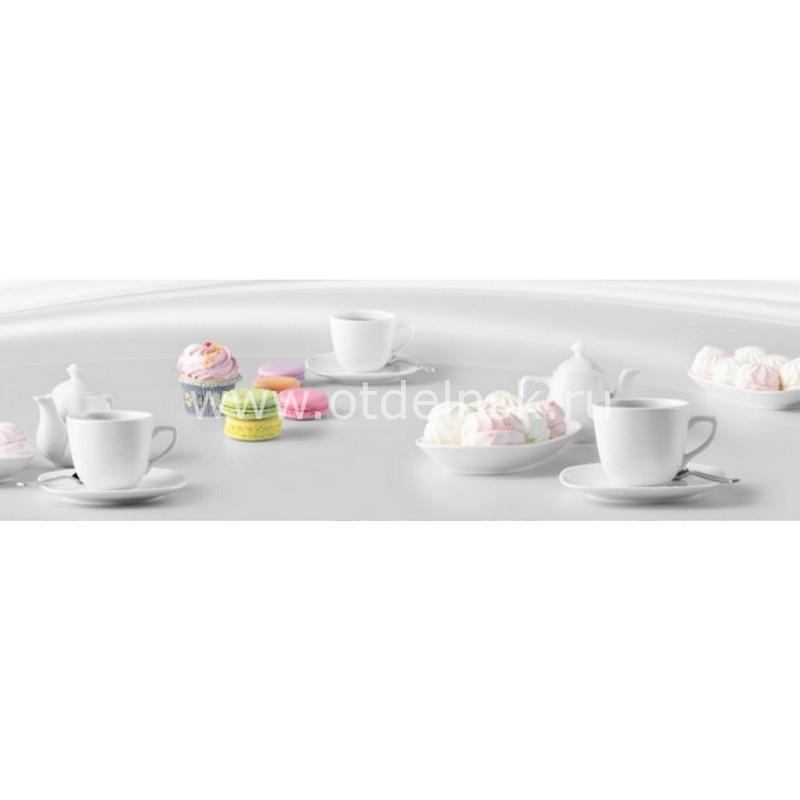 8587 Кофе, пирожные. Фартук для кухни пластиковый. 3 метра