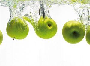 9263 Яблоки, вода. Фартук для кухни пластиковый. 3 метра