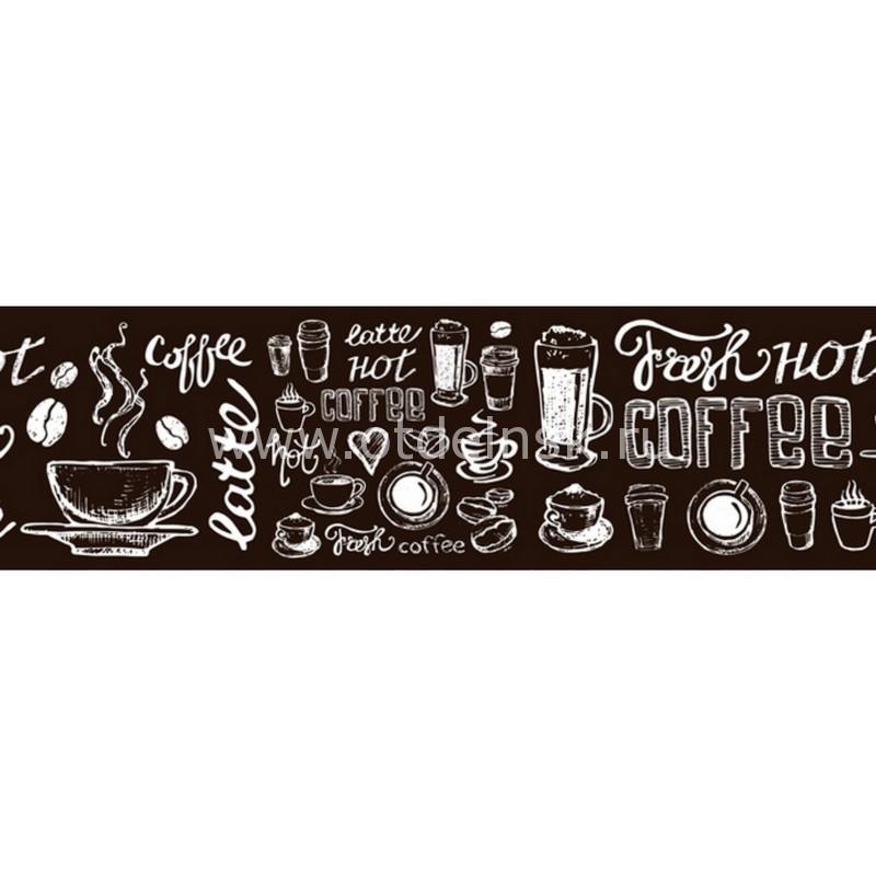 9392 Латте (коричневый). Фартук для кухни пластиковый. 3 метра