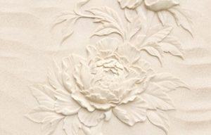9431 Цветы на песке. Фартук для кухни пластиковый. 3 метра