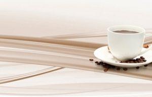 9530 Кофе, волны. Фартук для кухни пластиковый. 3 метра