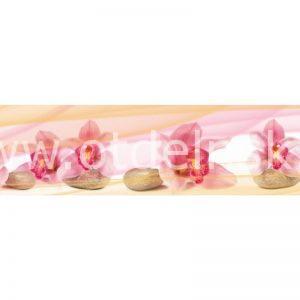9579 Орхидеи, спа. Фартук для кухни пластиковый. 3 метра