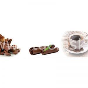 9609 Кофе, корица. Фартук для кухни пластиковый. 3 метра