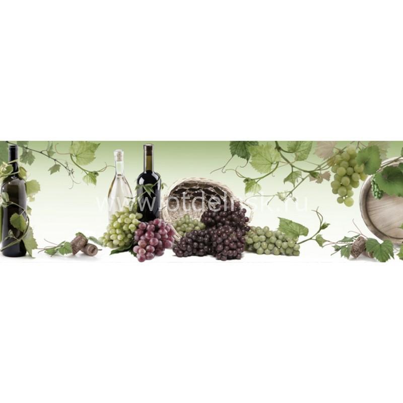 7965 Вино. Фартук для кухни пластиковый. 3 метра
