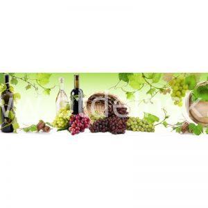 7966 Вино. Фартук для кухни пластиковый. 3 метра