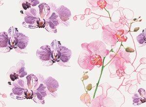 9128 Ветки орхидеи. Фартук для кухни пластиковый. 3 метра