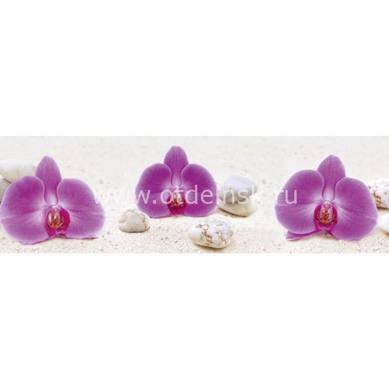 9199 Орхидеи, песок. Фартук для кухни пластиковый. 3 метра