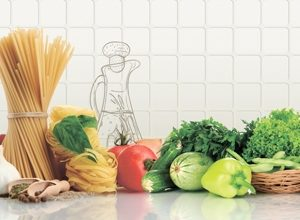 9206 Овощи. Фартук для кухни пластиковый. 3 метра