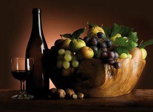 9224 Вино. Фартук для кухни пластиковый. 3 метра