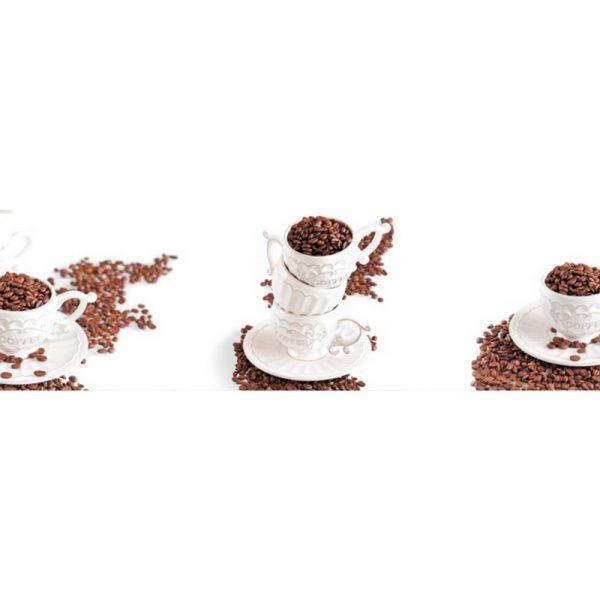 9286 Кофейные зёрна. Фартук для кухни пластиковый. 3 метра