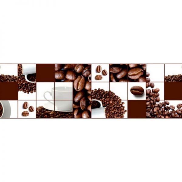9287 Кофейные зёрна. Фартук для кухни пластиковый. 3 метра