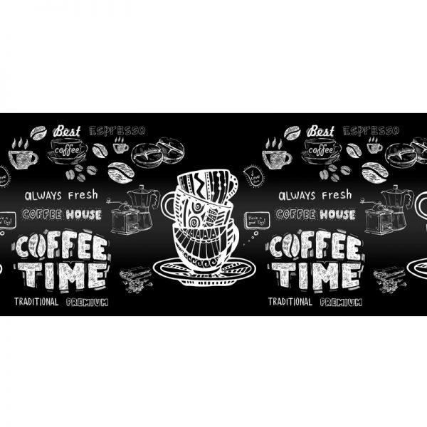 Кофе time. Фартук для кухни пластиковый. 3 метра