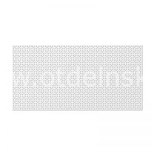 Дамаско Белый 600х1200 мм. Панель перфорированная