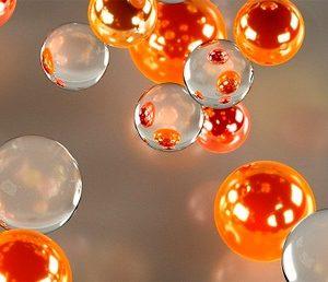 Оранжевые пузырьки. СА. Фартук для кухни пластиковый. 3 метра