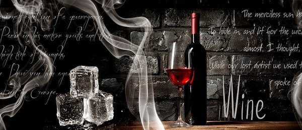 Вино и лед. СА. Фартук для кухни пластиковый. 3 метра