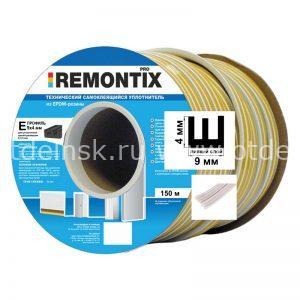 """Уплотнитель самоклеящийся для окон """"Remontix"""" E150 4х9 мм Белый"""