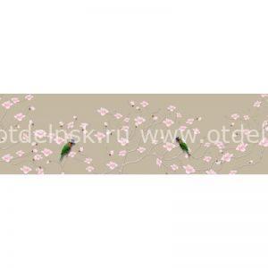 Фартук кухонный из ХДФ. 9891 Птицы на ветке.