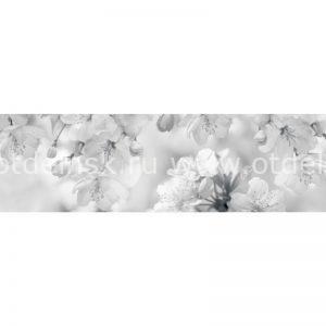3848 Цветы. Фартук для кухни пластиковый. 3 метра