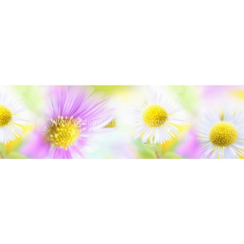 3876 Цветы. Фартук для кухни пластиковый. 3 метра