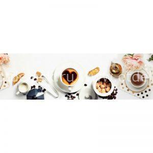 4041 Кофе. Фартук для кухни пластиковый. 3 метра