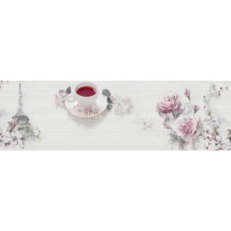 4188 Чай. Фартук для кухни пластиковый. 3 метра