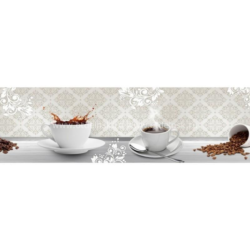 7044 Кофе. Фартук для кухни пластиковый. 3 метра