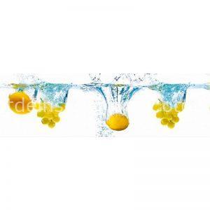11006 Лимоны. Фартук для кухни пластиковый. 3 метра
