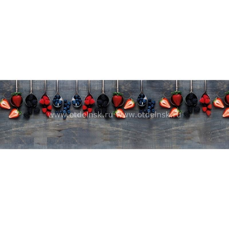 11007 Ягоды. Фартук для кухни пластиковый. 3 метра