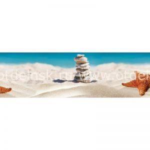 11010 Пляж. Фартук для кухни пластиковый. 3 метра