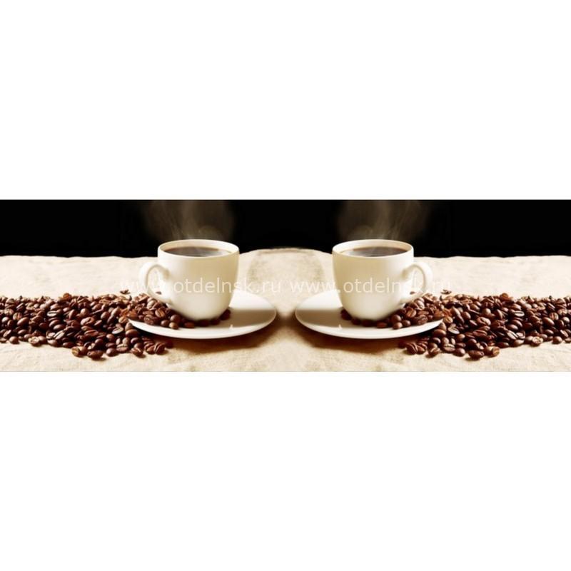 11015 Кофе. Фартук для кухни пластиковый. 3 метра