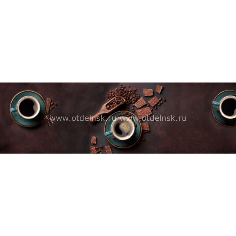 11016 Кофе. Фартук для кухни пластиковый. 3 метра