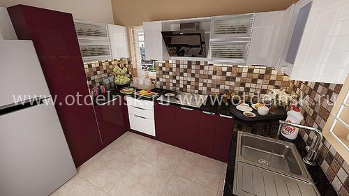 Кухонный фартук с имитацией мозаики